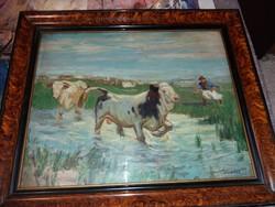 Viski , eredeti ritka festménye.