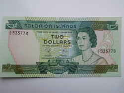 Salamon szigetek 2 dollár 1977  UNC Ritka!