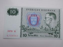 Svédország 10 korona 1979 UNC