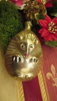 Régi figurális üveg karácsonyfadísz  sün