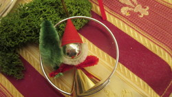 Üveg-zsenilia  karácsonyfadísz Mikulás