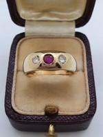Gyémánt - Rubin  Gyűrű