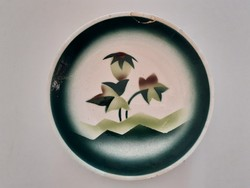 Régi Gránit falitányér falidísz növénymintás tányér