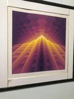 """YVARAL (Jean-Pierre Vasarely)"""" Fény törés I"""" Szita( Réfraction de la lumière I.) című alkotása 1979"""