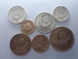 Orosz 1, 2, 3, 5, 10, 15, 20 Kopek sor - 7db Kopek pénzérme 1961-1981-ig