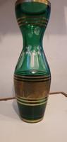 Moser műhelyből, hatalmas üveg váza, 44 cm magas