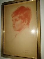 """László Fülöp(Sir Philip) (1896-1937) - """"Fiam Henrik"""" 1906 - igazi ritkaság!Mellékeltem egy aukció.."""
