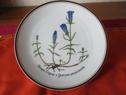 Encián diszitésü Rosenthal fali tányér