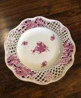 Herendi Apponyi mintás áttört fali tányér