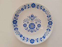 Régi Alföldi porcelán falitányér virágos magyaros kék népi mintás