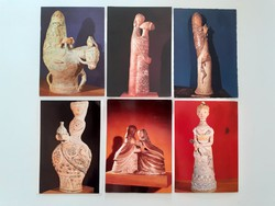 Régi képeslap Kovács Margit keramikus munkái 5 db
