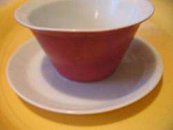 Rózsaszín-fehér Rosenthal szószos csésze