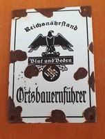 2.Vh.Náci német  zománctábla