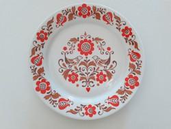 Régi Alföldi porcelán falitányér virágos madaras magyaros népi mintás tányér