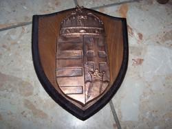 Magyar címer csodás fa hátlapon