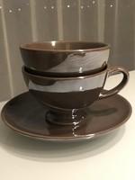 Reggeliző készlet bronzos csokoládébarna színbenl