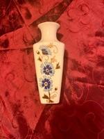 Zsolnay búzavirág mintás kézzel festett váza