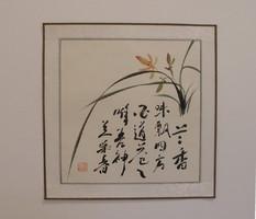 Orchidea, kínai festmény
