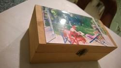 Vaszaryval-új Teafilteres doboz-ládika-tároló