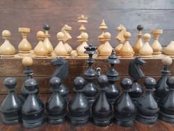 Vintage fa sakk készlet
