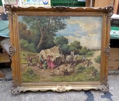 Antik képkeret nagyméretű +a kép