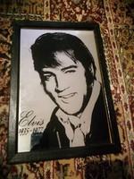 Elvis emléktükör, souvenir jellegű reklám tükör
