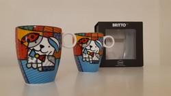 Goebel porcelán nagy bögre Britto 2 db Artis Orbis