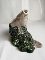 Világhy Árpád - iparművészeti kerámia hal figura, hibátlan, jelzett 18 x 14 cm