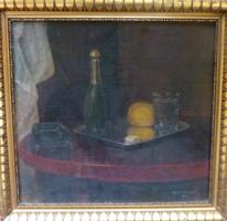 Asztali csendélet, 1932 (olajfestmény kiváló állapotban, kerettel, 39x42 cm)