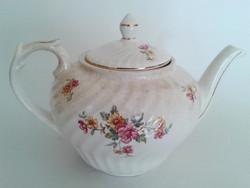 Régi Gránit virágos teáskanna kanna kiöntő