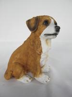 Ülő kutya figura