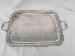 Antik ezüstötött hatalmas tál 1900 évek.