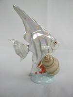Kőbányai porcelán hal vitorláshal
