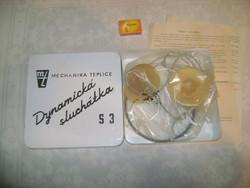 Retro fejhallgató, fülhallgató - 1967 - eredeti dobozában, papírjaival