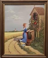 Pintér jelzéssel / Lány a kápolna előtt