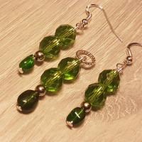 Smaragd és kristály szett 3 cm-es.