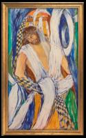 Jézus szenvedése IV. (sorozat része) 1987 - Modern, szép színvilággal elkészített vallási jelenet