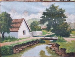 Beregi jelzéssel / Ház a patak mellett