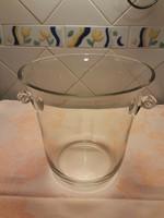 Nagy Bólés, pezsgős edény üvegből - Tiffany stílusú füllel