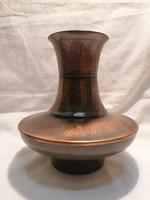 Retro iparművész fémműves bronz váza