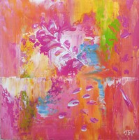 """""""Organic"""" abstract painting is a unique, original work! Signed, direct from the artist!"""