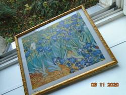 """Vincent van Gogh: """"Íriszek"""" 1888,keretezett nyomat"""