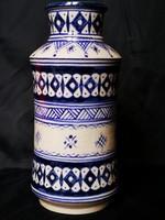 Gyönyörű, aprólékos díszítésű, kézzel festett, marokkói albarelló