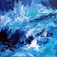 HULLÁMOK Absztrakt festmény Egyedi, eredeti alkotás!Szignózott,Közvetlen a művésztől!