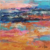 TÁVOLSÁG Absztrakt festmény Egyedi, eredeti alkotás!Szignózott,Közvetlen a művésztől!