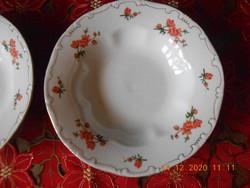 Zsolnay Barackvirág mintás mély tányérok