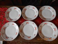 Zsolnay Barackvirág mintás lapos tányérok 6 db