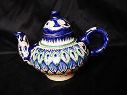 Gyönyörű kézműves, keleti kerámia teáskanna, új