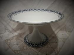 Antik, angol porcelán B.W.M & Co Cauldon talpas tálaló, tál, kínáló