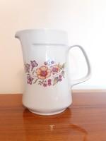 Régi Alföldi porcelán kancsó retro virágos kiöntő 20 cm